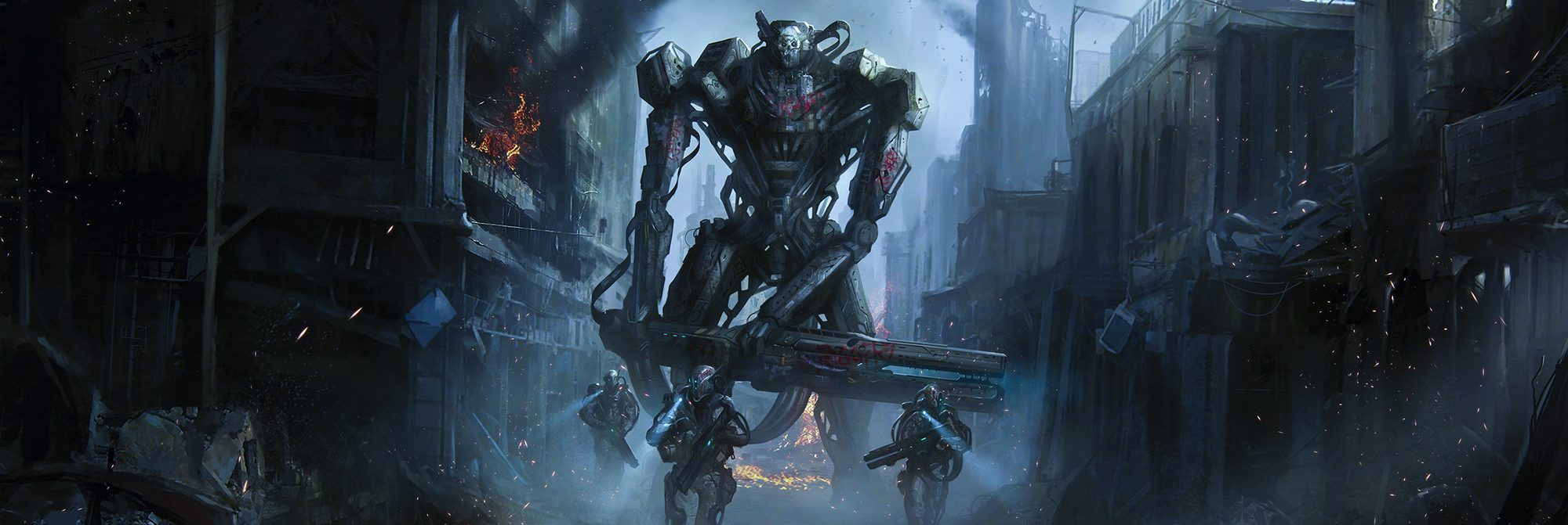 Image of a giant robot, End of Liberty, all images copyright Tom Edwards